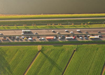 Stuck in Traffic – A15, The Netherlands