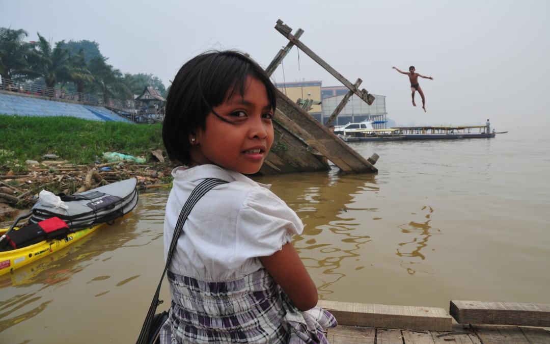 Playing Kids East Coast Sumatra